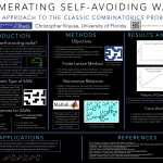 CURE: Interdisciplinary Undergraduate Research: Enumerating Self-Avoiding Walks